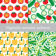 Four vegetable repeating patterns
