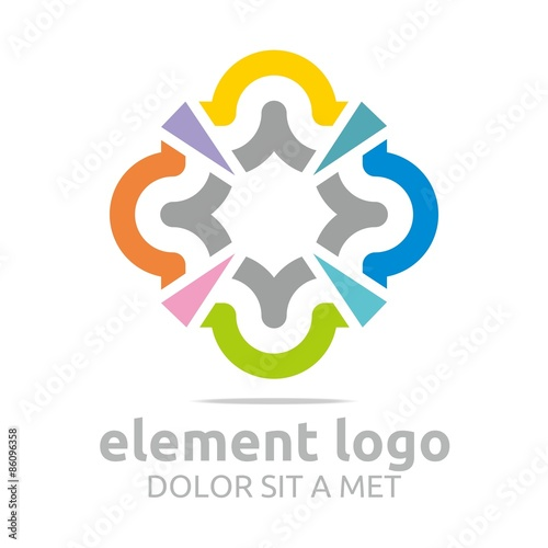 Logo Colorful isosceles triangle Arch Element Design Vector