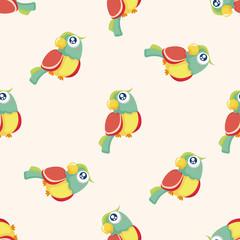 bird cartoon ,seamless pattern