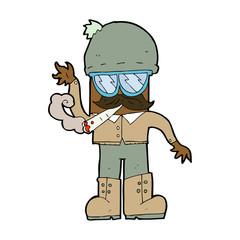 cartoon man smoking pot