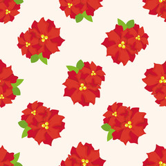 poinsettia ,seamless pattern