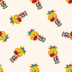 circus clown ,seamless pattern