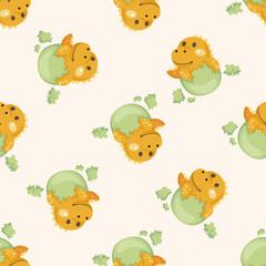dinosaur cartoon ,seamless pattern