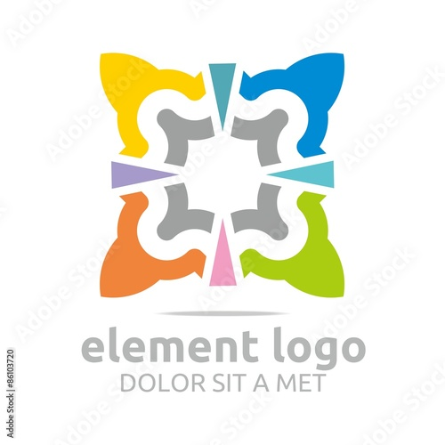 Logo Colorful Arch Element isosceles triangle Design Vector