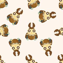 bug cartoon ,seamless pattern