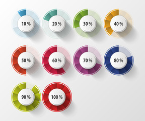 Percentage Diagram Presentation Design Elements. Vector illustration