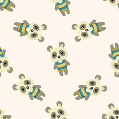 animal panda summer cartoon ,seamless pattern