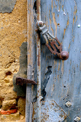 Old lock of an old door
