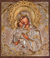 Jerusalem - Madonna in Russian orthodox Church of Mary of Magdalene