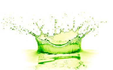 lime drink splash