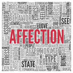 AFFECTION Word Tag Cloud Design
