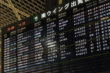 Airport Electronic Message Board (空港 電光掲示板)