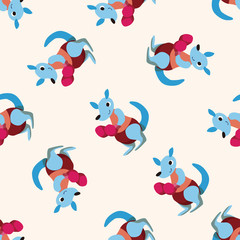 sport animal kangaroo cartoon ,seamless pattern