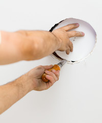 Cutting Hole for Mounting Light