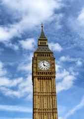 Wall Mural - Big Ben clock tower at Westminster, London