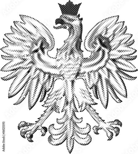 Wzór Godła Polski Wykonanego W Formie Kropkowanej Nadaje Się