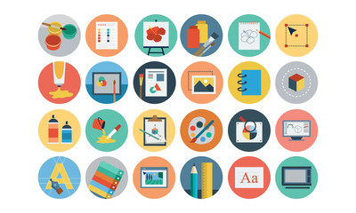 Flat Design Vector Icons 6