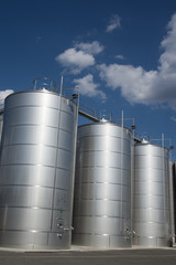 Silos in farm. Tuscany