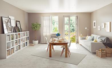 modern interior. 3d concept