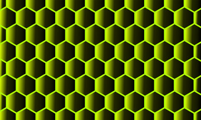 Modern Abstract Background Hexagonal Design yellow