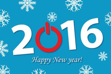 New 2016 year illustration