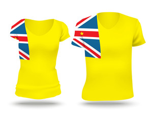 Flag shirt design of Niue
