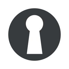 Monochrome round keyhole icon