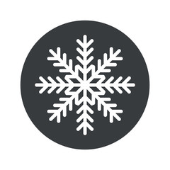 Monochrome round winter icon