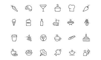Food Hand Drawn Outline Vector Icons 2