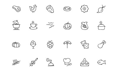 Food Hand Drawn Outline Vector Icons 7