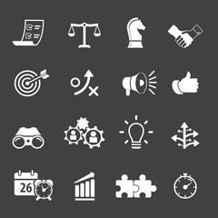 Strategy and Business Icon set