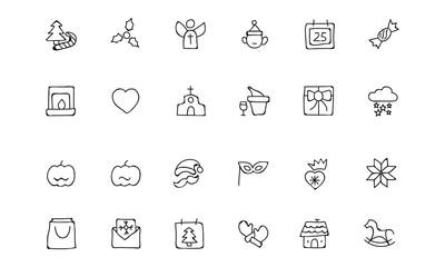 Christmas Hand Drawn Vector Icons 3