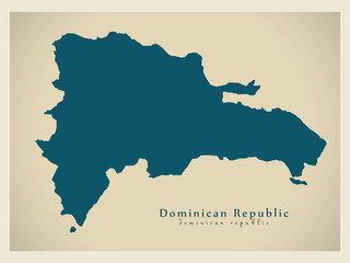 Modern Map - Dominican Republic DO