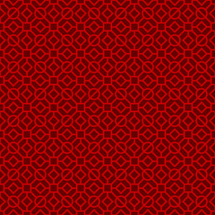 Seamless vintage Chinese window tracery polygon circle pattern background.