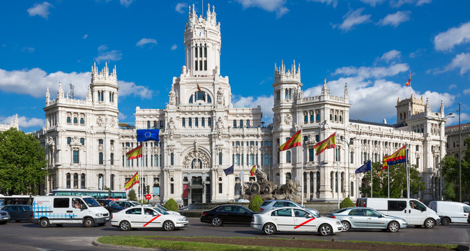Plaza de Cibeles, Madrid, Spanien