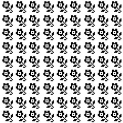 vector pattern of black and white roses