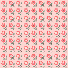 vector pattern of colorful roses