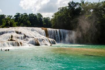 Agua azul waterfalls in Mexico