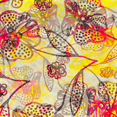 Pop-art floral design.
