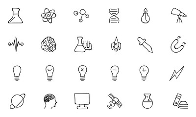 Science Hand Drawn Doodle Icons 1