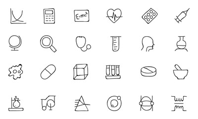 Science Hand Drawn Doodle Icons 2