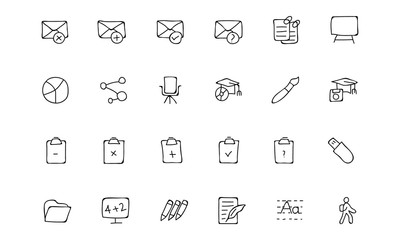Education Hand Drawn Doodle Icons 8
