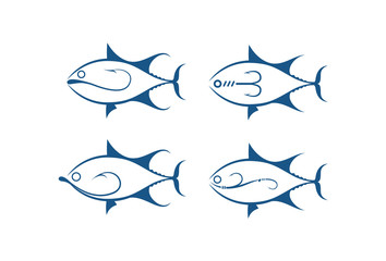 fish and hook, vector
