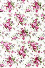 pink rose vintage on fabric background
