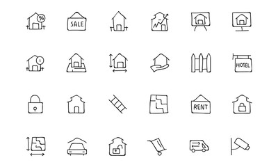 Real Estate Hand Drawn Doodle Icons 3
