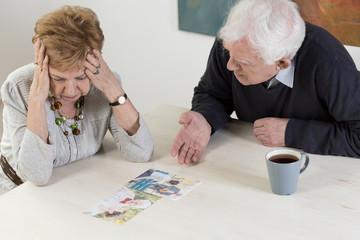 Elder couple's difficult conversation