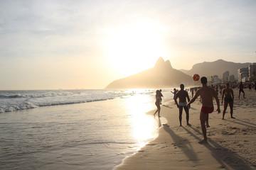 Ipanema Beach Rio de Janeiro Brazil Sunset