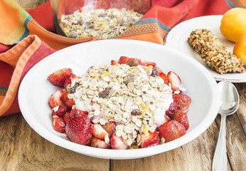 Muesli Breakfast with Strawberries