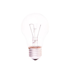 Light Bulb with burned spiral inside
