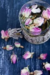 pink rose buds